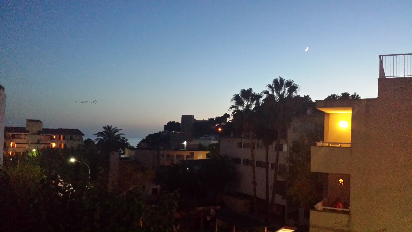 Mond über Paguera