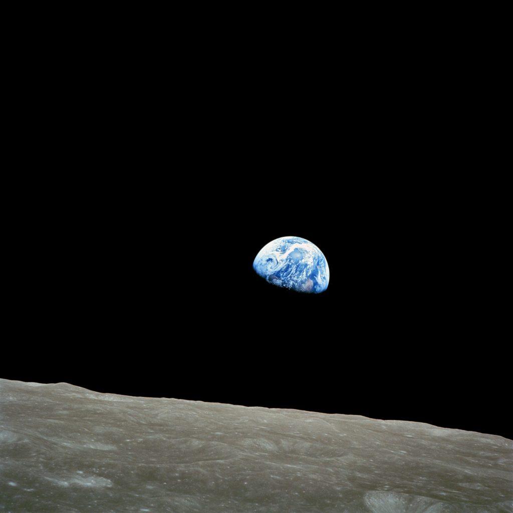 Die Erde vom Mond am 21.12.1968