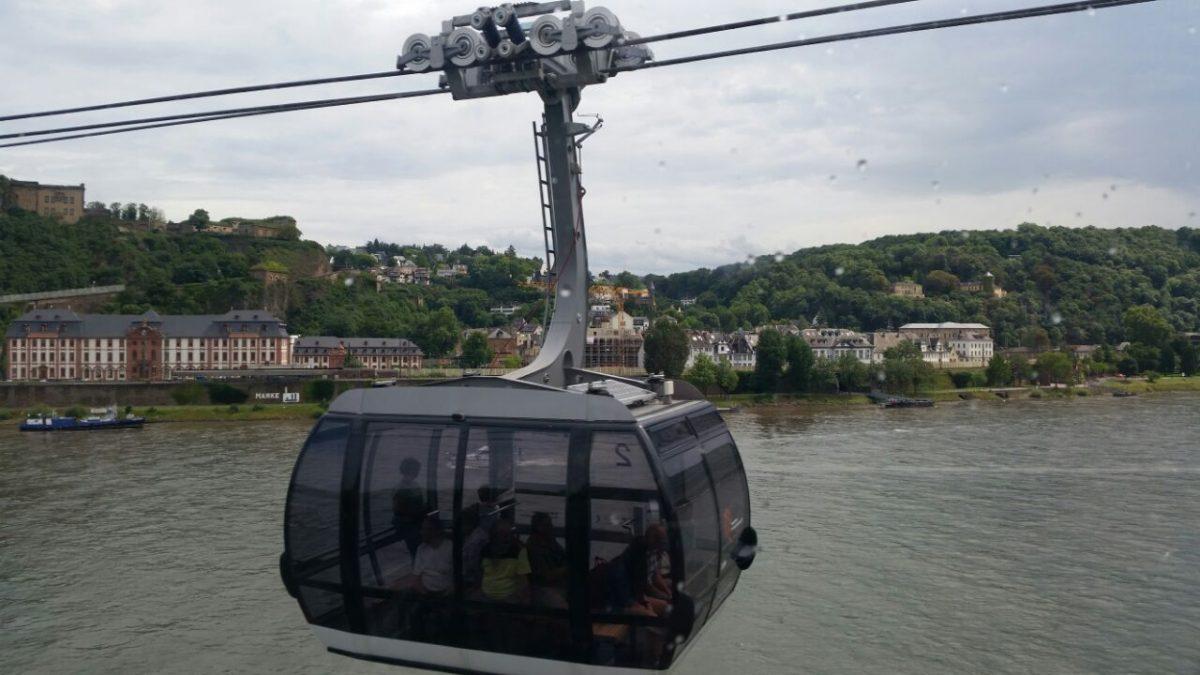 Ausflug nach Koblenz – Fahrt mit der Rheinseilbahn