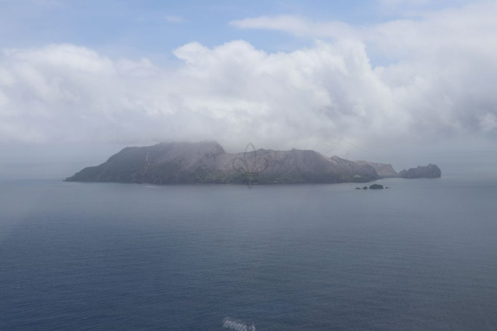 Anflug auf White Island.