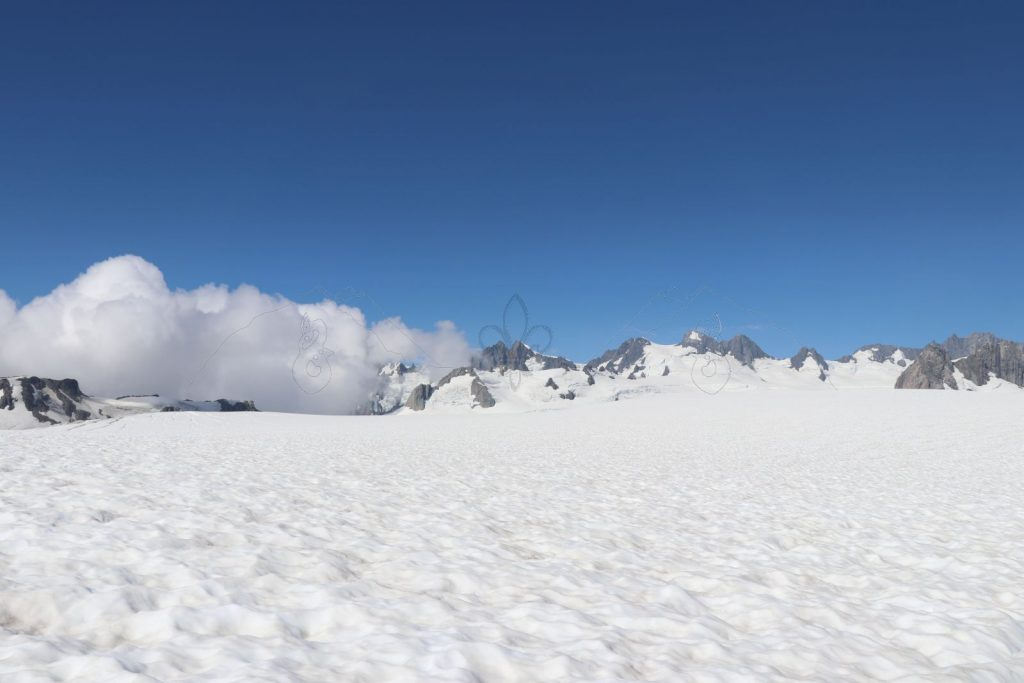 Auf dem Gletscher.