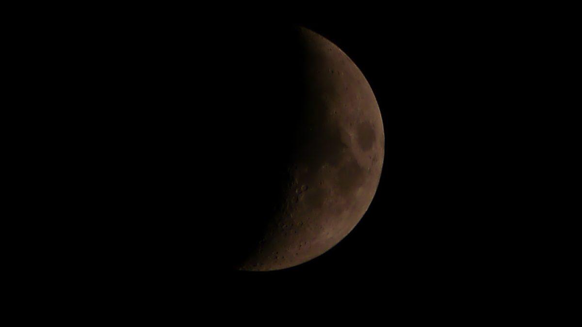 Zunehmender Mond am 20./21.04.2018